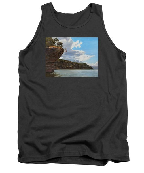 Graceful Cliff Dive Tank Top