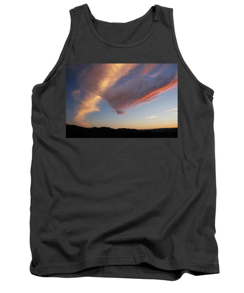 Graceful Pink Clouds Tank Top