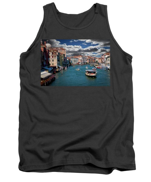 Tank Top featuring the photograph Grand Canal Daylight by Harry Spitz
