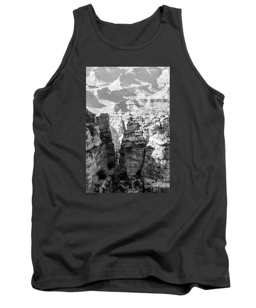 Tank Top featuring the photograph Grand Canyon Bw Impression by Juergen Klust