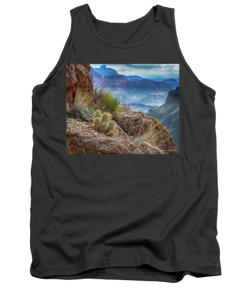 Tank Top featuring the photograph Grand Canyon Cactus by Phil Abrams