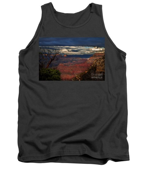 Tank Top featuring the photograph Grand Canyon Storm Clouds by John A Rodriguez