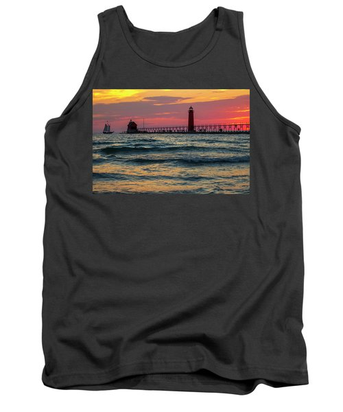 Grand Haven Pier Sail Tank Top by Pat Cook
