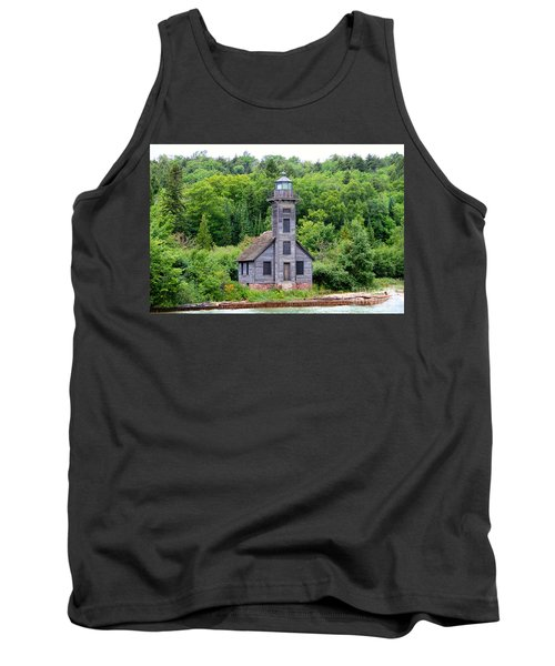 Tank Top featuring the photograph Grand Island East Channel Lighthouse #6549 by Mark J Seefeldt