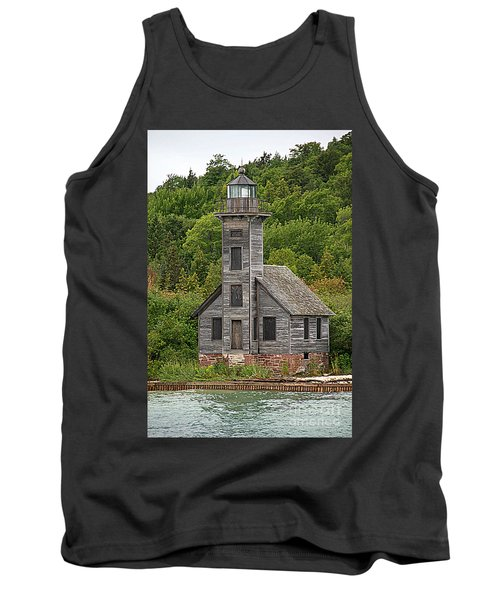 Tank Top featuring the photograph Grand Island East Channel Lighthouse #6664 by Mark J Seefeldt