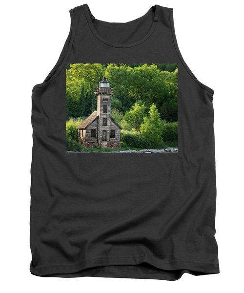 Grand Island Light House In Spring Tank Top