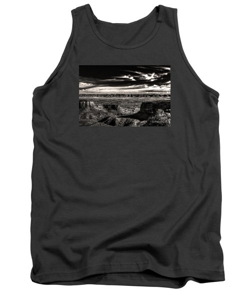Tank Top featuring the digital art Grand Junction In The Valley Below   by William Fields