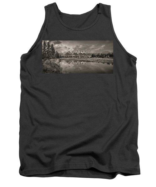 Grand Teton Monochromatic Panoramic Tank Top