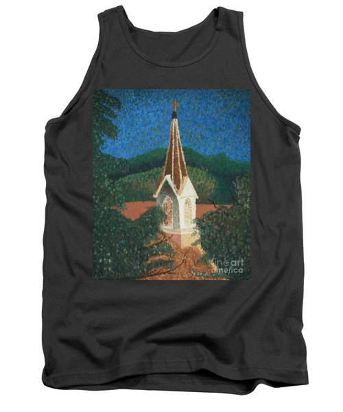 Tank Top featuring the painting Grandmas Church by Jacqueline Athmann