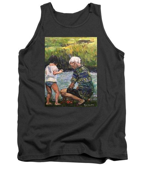 Grandpa And I Tank Top by Belinda Low