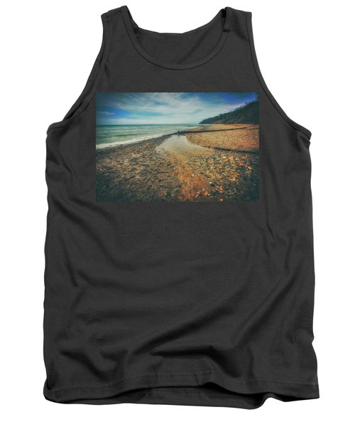 Tank Top featuring the photograph Grant Park - Lake Michigan Beach by Jennifer Rondinelli Reilly - Fine Art Photography