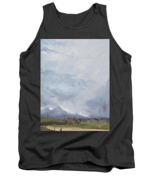 Tank Top featuring the painting Grantsville Skies by Jane Autry