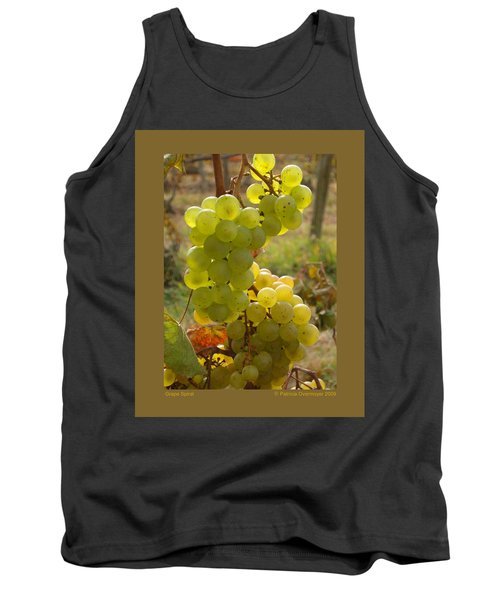 Grape Spiral Tank Top by Patricia Overmoyer