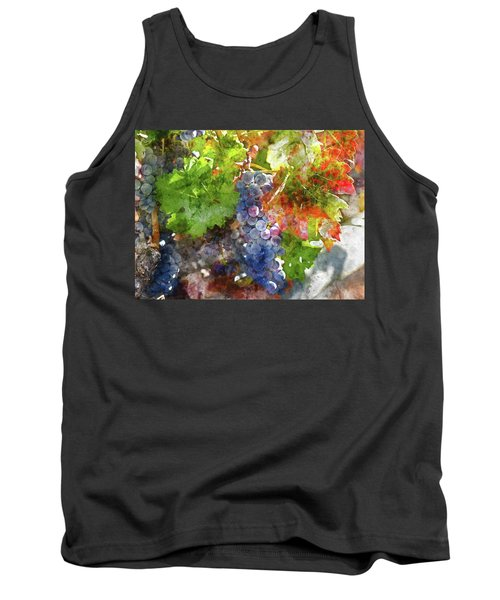 Grapes On The Vine In The Autumn Season Tank Top