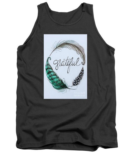 Tank Top featuring the painting Grateful by Elizabeth Robinette Tyndall