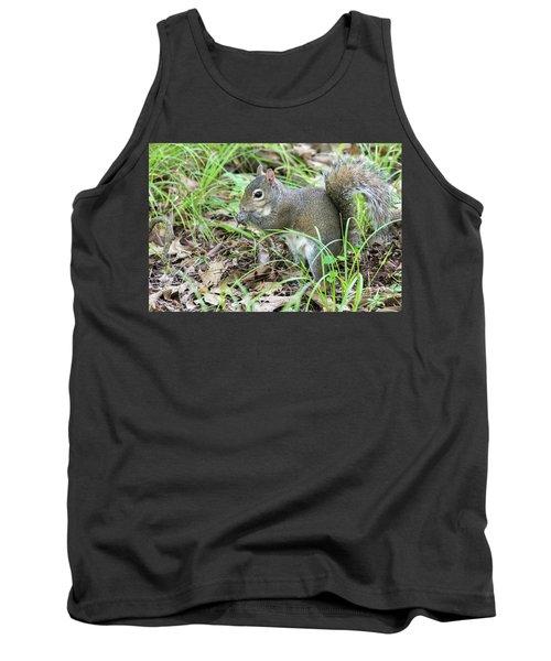 Gray Squirrel Eating Tank Top