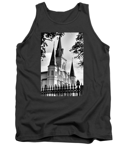Grayscale St. Louis Cathedral Tank Top