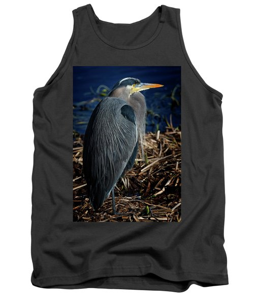 Tank Top featuring the photograph Great Blue Heron 2 by Randy Hall