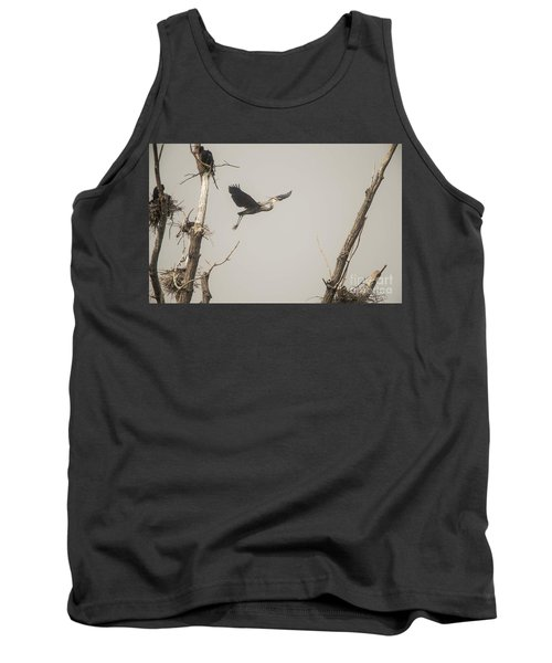 Tank Top featuring the photograph Great Blue Heron - 6 by David Bearden