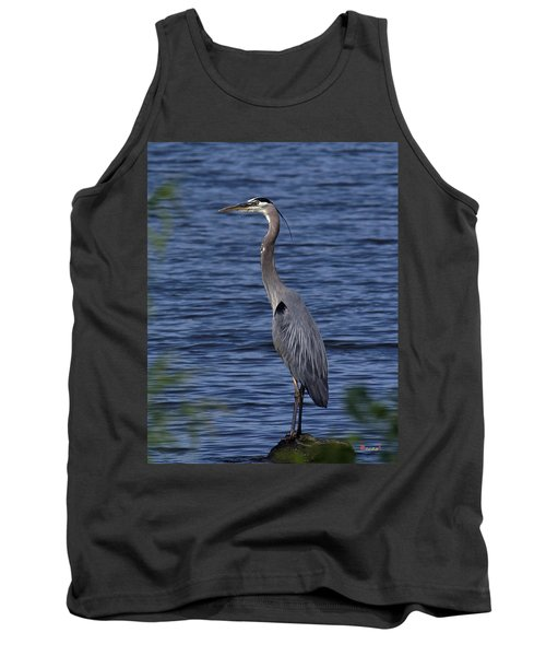 Tank Top featuring the photograph Great Blue Heron Dmsb0001 by Gerry Gantt