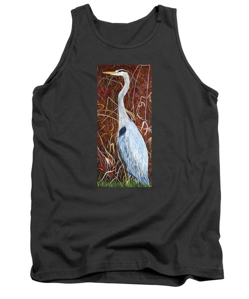 Great Blue Heron Tank Top by Marilyn  McNish