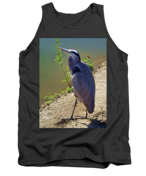 Tank Top featuring the photograph Great Blue Heron by Mariola Bitner