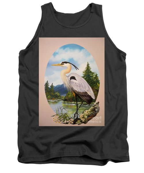 Great Blue Heron Tank Top by Sigrid Tune