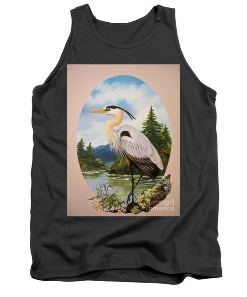 Flying Lamb Productions                 Great Blue Heron Tank Top