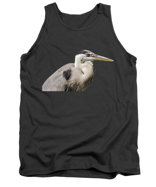 Great Blue Heron Transparency Tank Top