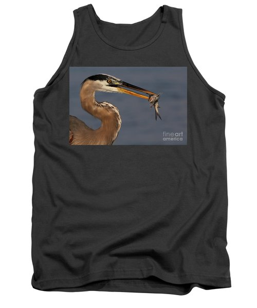 Great Blue Heron W/catfish Tank Top