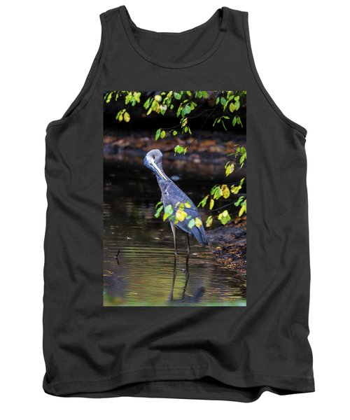 Great Blue Heron With An Itch Tank Top