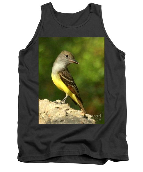 Great Crested Flycatcher Tank Top by Myrna Bradshaw