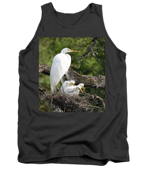 Great Egret Family  Tank Top