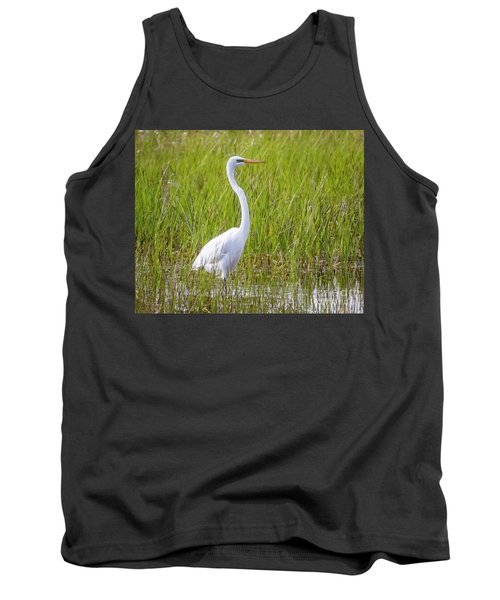 Tank Top featuring the photograph Great Egret In The Spring  by Ricky L Jones