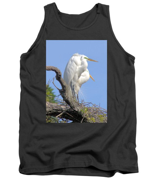 Great Egret Tank Top by Marion Johnson