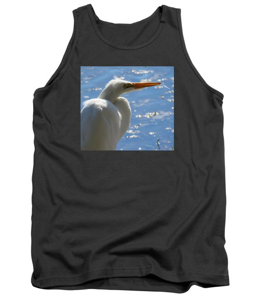 Tank Top featuring the photograph Great Egret Profile by Phyllis Beiser