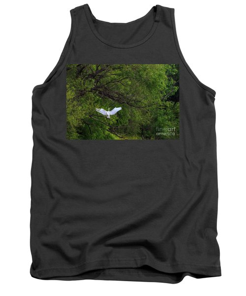 Great Egrets In The Shore Tank Top