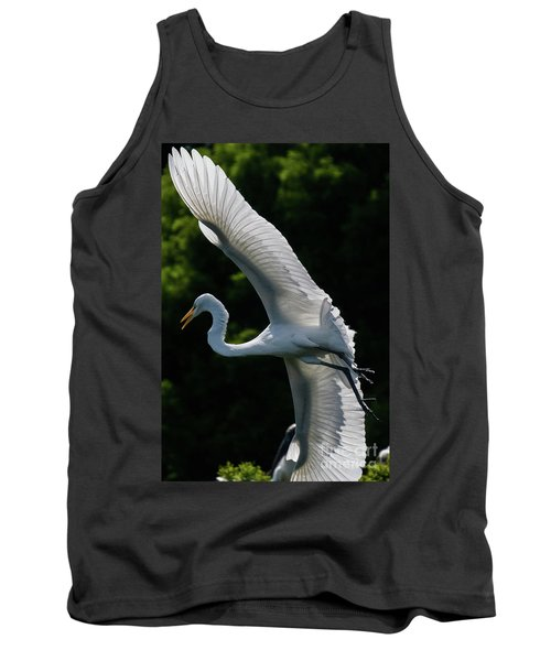 Great Egret's Wingspan Tank Top