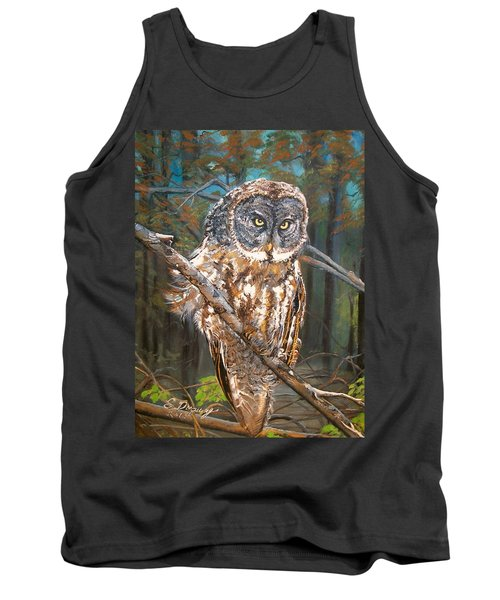 Great Grey Owl 2 Tank Top