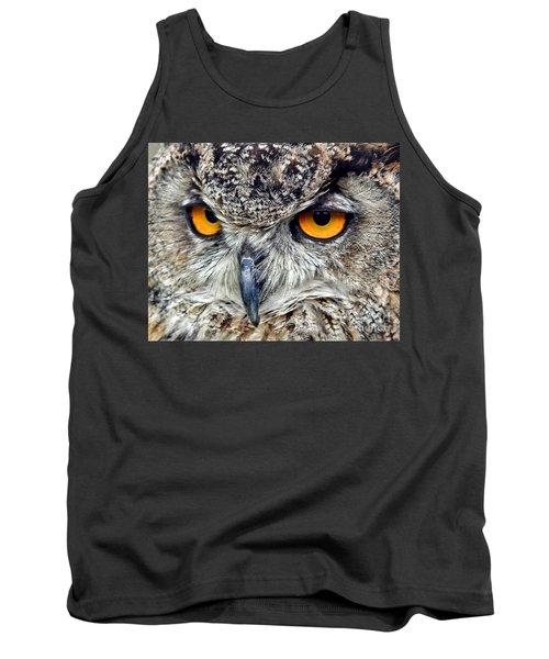Great Horned Owl Closeup Tank Top