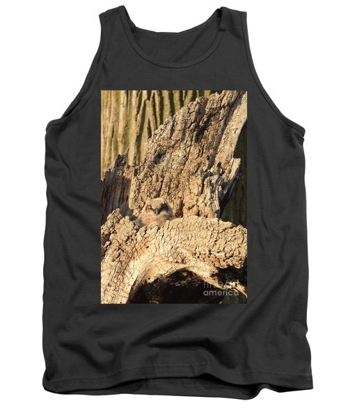 Great Horned Owlet Two Tank Top