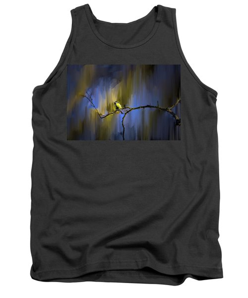 Great Tit On Branch #h3 Tank Top