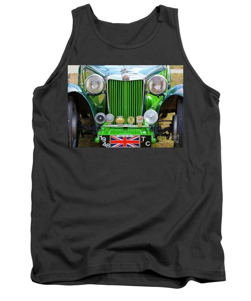 Tank Top featuring the photograph Green 1948 Mg Tc by Chris Dutton