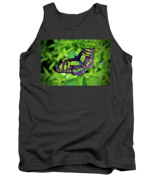 Green And Black Butterfly Tank Top