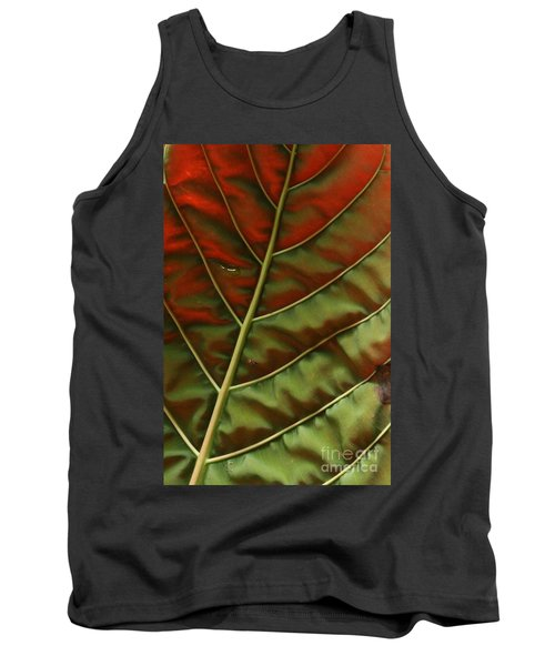 Green And Red Leaf Silky Dunes 2 Tank Top