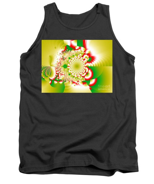 Green And Yellow Collide Tank Top