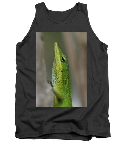 Tank Top featuring the photograph Green Anole by Doris Potter