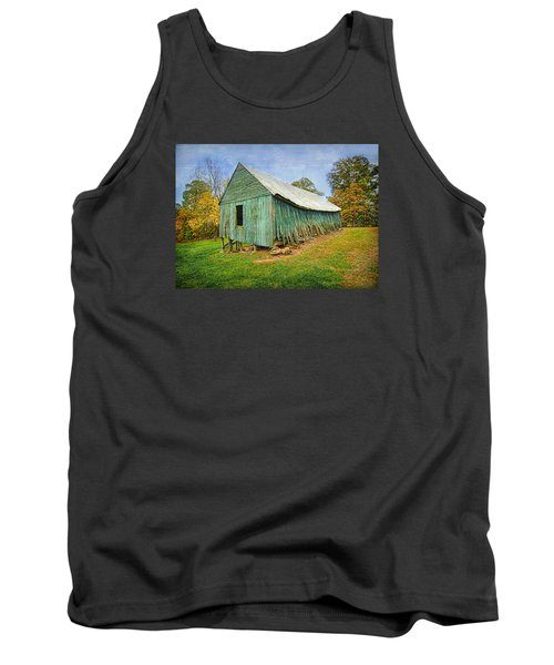 Green Barn Tank Top by Marion Johnson