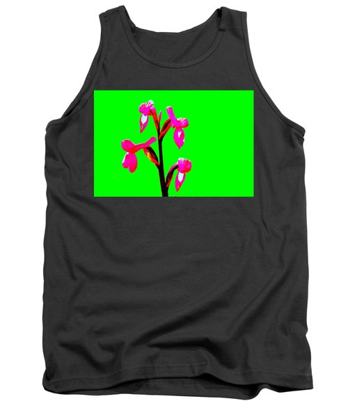 Green Champagne Orchid Tank Top by Richard Patmore