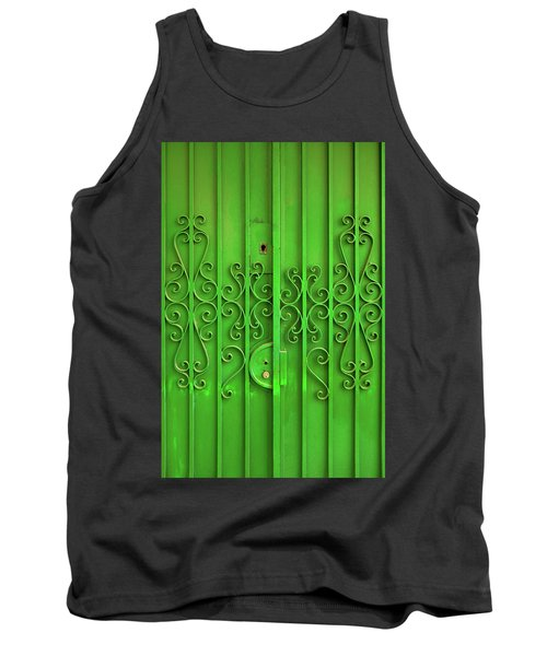 Tank Top featuring the photograph Green Door by Carlos Caetano